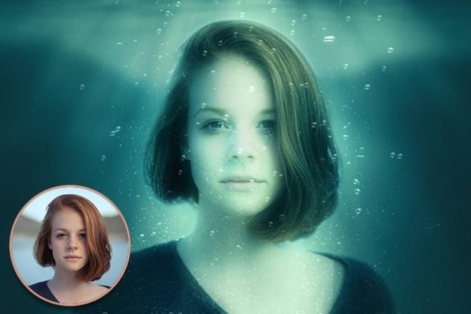 """Обработаю 2 фотографии в стиле """"под водой"""" 1 - kwork.ru"""