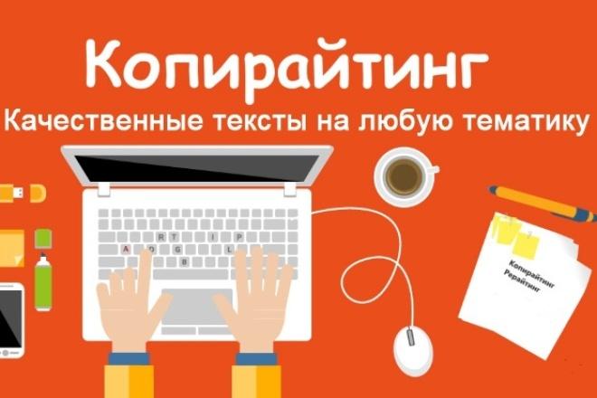 Напишу 5 уникальных текстов на любые тематики 1 - kwork.ru