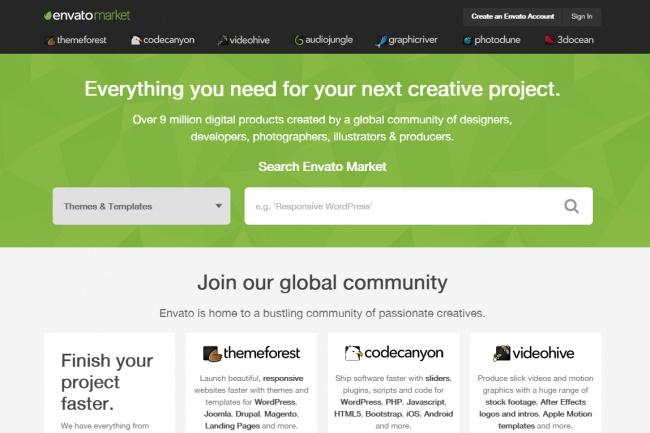Покупаю дизайны на ThemeForest.net со скидкой 1 - kwork.ru