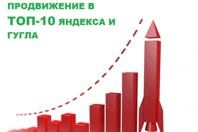 Продвижение сайта или отдельных запросов в ТОП-10 1 - kwork.ru