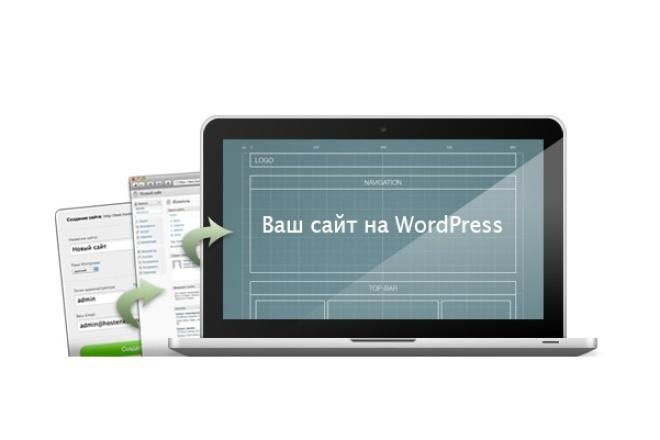 Сайт на WordPressАдминистрирование и настройка<br>Установка и настройка бесплатного шаблона wordpress. Установка плагинов для оптимизации и защиты сайта.<br>