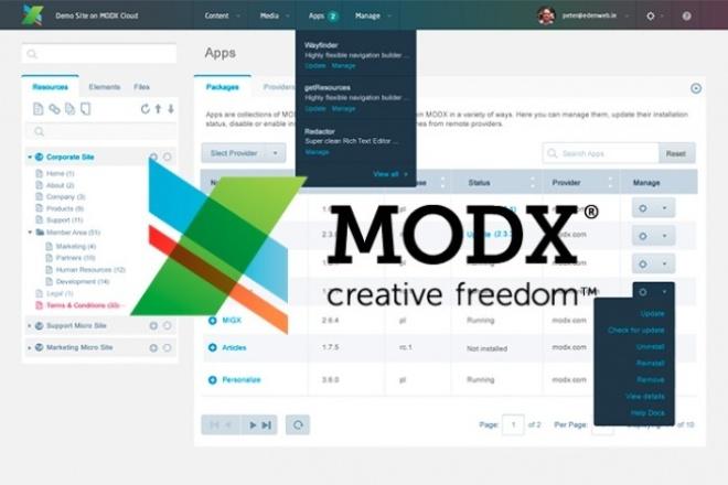 Как сделать modx