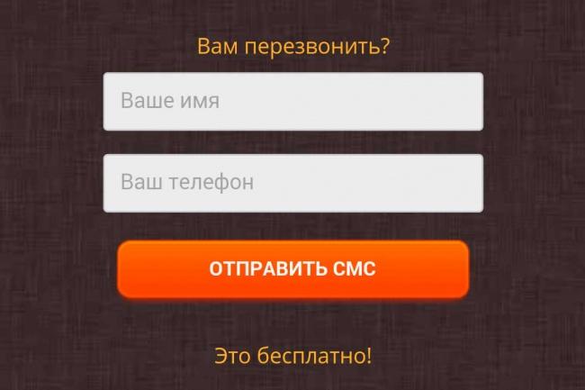 настрою смс уведомления на лендинг 1 - kwork.ru