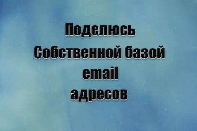 Поделюсь собственной базой email адресов 1 - kwork.ru