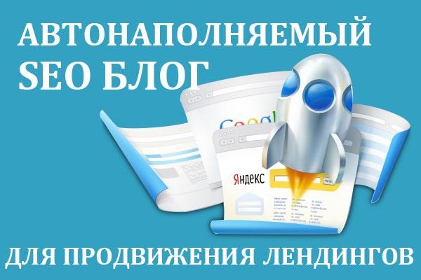 Установлю автонаполняемый блог для SEO продвижения Вашего лендинга 1 - kwork.ru