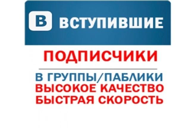 ВКонтакте - 400 вступивших подписчиков в паблик,группу. Качество. Без собак 1 - kwork.ru
