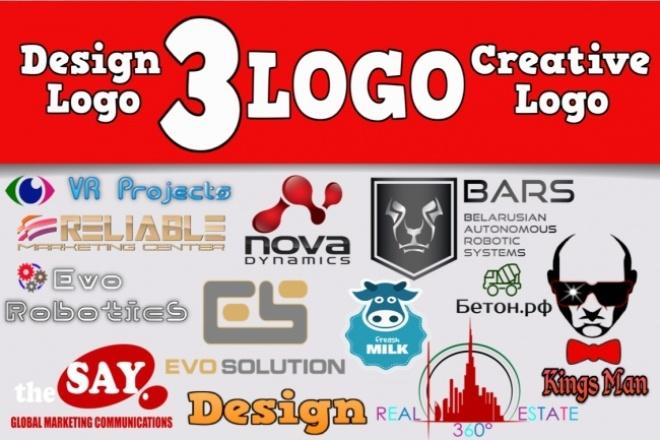 Сделаю 3 варианта логотипаЛоготипы<br>Нарисую дизайн вашего логотипа. Что от Вас требуется? Вы получите работу на основе ваших конкретных требований и предпочтений. Поэтому, пожалуйста, очень детально излагайте свои мысли, пожелания. Прикрепляйте логотипы, которые вам нравятся, указывайте цвета, какие хотите видеть. Показывайте шрифты, которые вам нравятся. Постарайтесь дать максимум информации. Что вы получаете за 500 рублей? Три варианта дизайна логотипа 3 jpeg изображений 3 png изображений на прозрачном фоне Вносить правки до желаемого результата Что такое файлы исходники? Это файлы, которые у вас попросят в типографии, в веб студии, при печати, дизайне вашей продукции, а также нанесении на упаковочные материалы. В каких форматах бывают файлы исходники? Adobe Illustrator (Ai) Corel Draw (Cdr) Encapsulated Postscript (Eps) Adobe Acrobat (Pdf) Adobe Photoshop (Psd) Сколько стоят файлы исходники? Файлы исходники стоят дополнительно 1000 рублей. Приобрести их Вы можете в начале заказа, так и после завершения сделки. Рекомендую приобретать логотип вместе с файлами исходниками.<br>