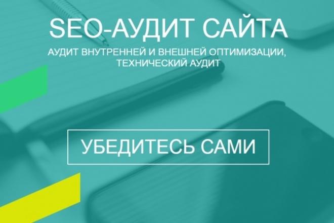 SEO-аудитАудиты и консультации<br>Выполню SEO-аудит сайта объемом до 3000 страниц В аудит входит: Общие статистические показатели: 1. тИЦ, 2. количество страниц в индексе, 3. наличие в каталогах, 4. возраст домена, 5. региональная привязка. Технический аудит: 1. хостинг, CMS, 2. скорость загрузки главной страницы, 3. вирусы на сайте, 4. кодировка документа, наличие фавикона, 5. наличие в коде шаблона вынесенных таблиц стилей CSS и JavaScript скриптов, html-валидация, CSS-валидация, 6. robots.txt, sitemap.xml, 404 страница, пользовательская карта сайта, 7. редиректы www и /, 8. битые ссылки, 9. ошибки URL (ЧПУ). Аудит внутренней оптимизации: 1. ошибки html-оптимизации метаданных, 2. заголовки h1-h3, 3. контекстная перелинковка, 4. метаданные у изображений, 5. уникальность контента (выборочно 20 страниц). Аудит внешней оптимизации: 1. Количество доноров и получателей ссылок, 2. Проверка качества доноров (до 100 штук), 3. Рекомендации по входящим и исходящим ссылкам сайта. Выводы и рекомендации по сайту При заказе опции «Анализ посещаемости» необходимы доступы на чтение к системам аналитики.<br>