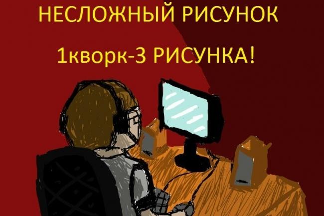 Нарисую несложный рисунок на графическом планшете 1 - kwork.ru