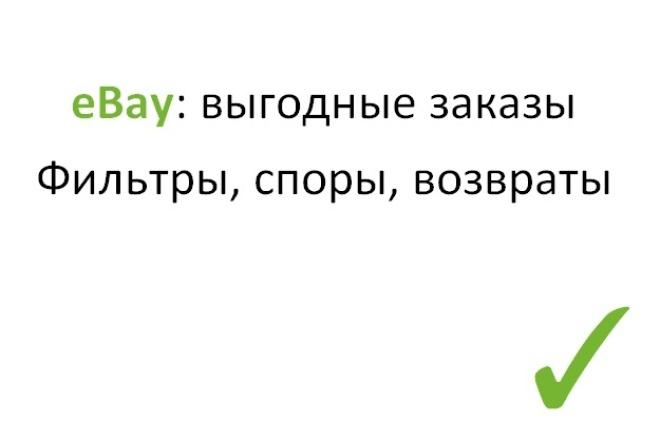 Научу выгодно покупать на eBay 1 - kwork.ru