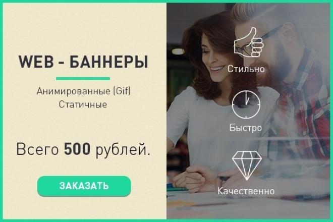 сделаю web-баннер 1 - kwork.ru