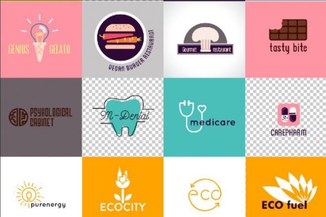 Вышлю 70+ редактируемых шаблонов логотипов 2 - kwork.ru