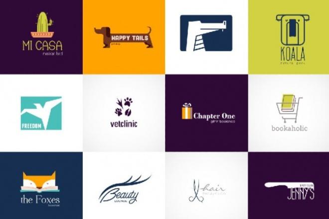 Вышлю 70+ редактируемых шаблонов логотипов 3 - kwork.ru