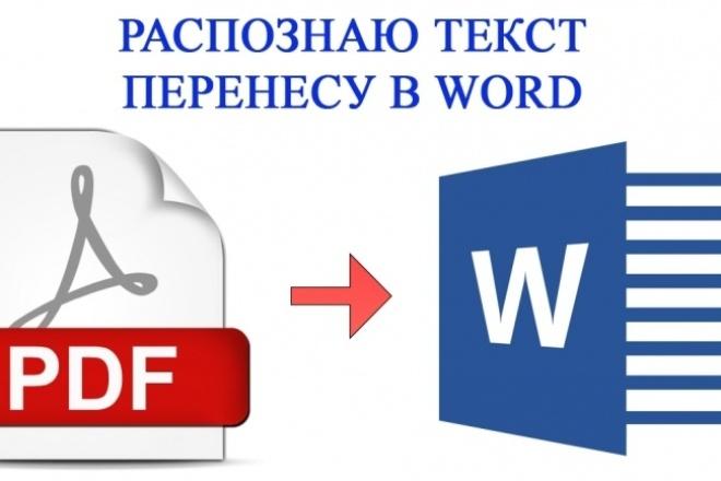 Переведу Ваши документы из формата PDF, JPEG в WORD 17 - kwork.ru