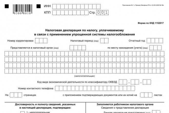 Нулевую декларацию 1 - kwork.ru