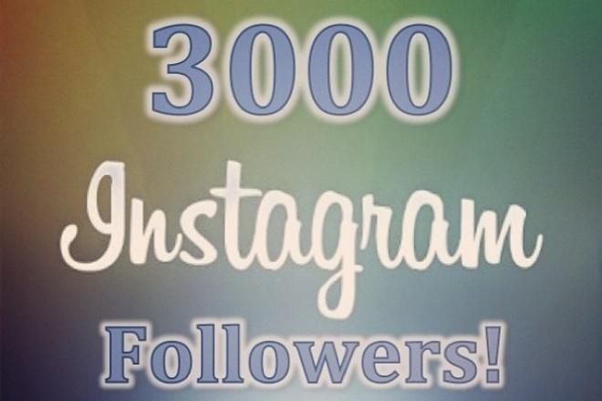 Подписки в Instagram +3000 1 - kwork.ru