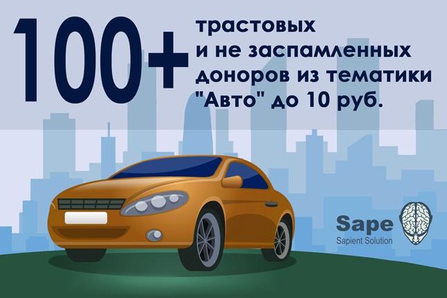"""100+ трастовых и незаспамленных сайтов тематики """"Авто"""" из Sape 1 - kwork.ru"""
