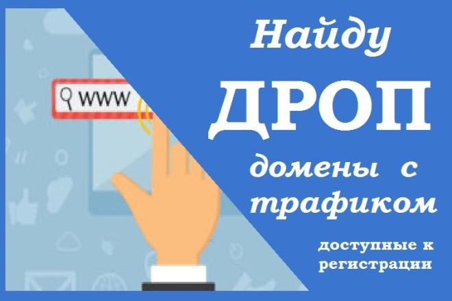 Найду 10 дроп доменов с трафиком 1 - kwork.ru