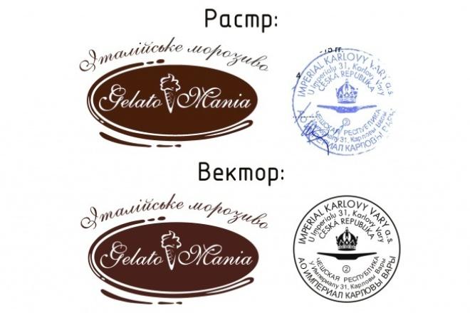 Преобразую (отрисую) в вектор растровое изображение 1 - kwork.ru