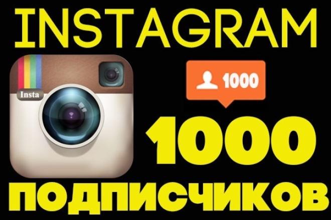 привлеку 1000 качественных подписчиков инстаграм instagram 1 - kwork.ru