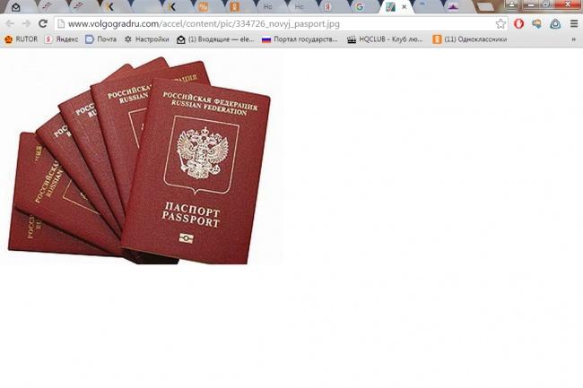 Заграничный паспорт 1 - kwork.ru