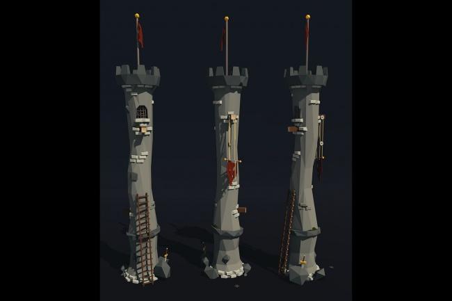 Создам 3D модели для игр и приложений 1 - kwork.ru