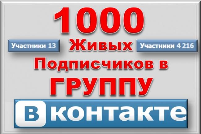 1000 живых подписчиков в группу Вк по 50-100 в день 1 - kwork.ru