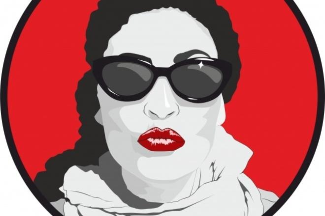 Портрет Digital Art . Файл для печати в высоком разрешении 1 - kwork.ru