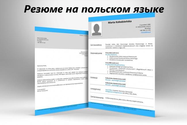 Помогу составить резюме на польском языке 1 - kwork.ru