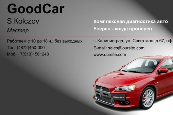 сделаю визитки 1 - kwork.ru