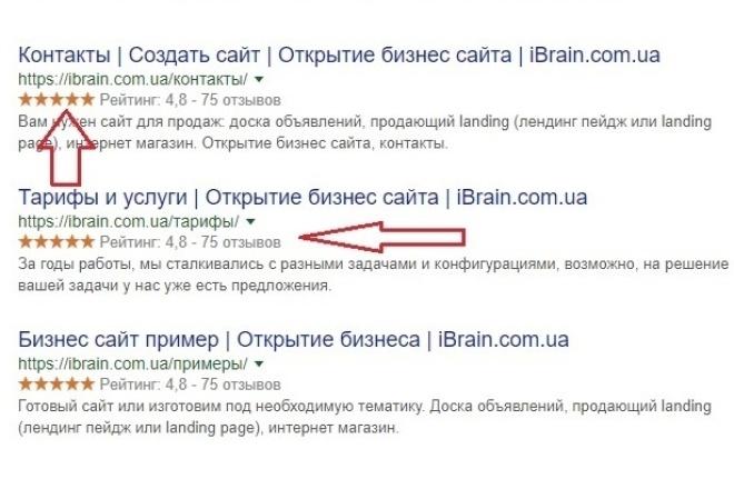 Увеличиваем CTR с помощью звёздных сниппетов. Англ. snippetВнутренняя оптимизация<br>Дополню любую тему WordPress красивым звёздным сниппетом, который выдаётся при запросе в поиске, пример на фото. Для получения таких снипетов необходимо правильным образом настроить микроразметку вашего сайта, это рекомендует и Google и Yandex ! Какие бывают снипеты: - Статья - Автор - Организация - Услуги - Товар Больше примеров - schema. org Что это даст? Лучше кликабельность (CTR), ведь это привлекает внимание, всем интересно посмотреть, что же там с такм рейтингом, ну трафик увеличивается. Что входит в кворк: Один выбранный snippet, который проиндексируется на всех страницах вашего сайта. Выбирайте дополнительные услуги к этому и смотрите другие мои кворки, они вам пригодятся!<br>