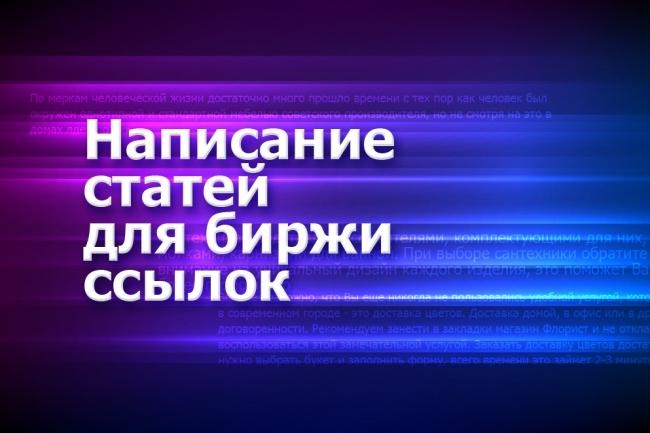 Написание 100% уникальных статей на заданную тему для бирж ссылок 1 - kwork.ru
