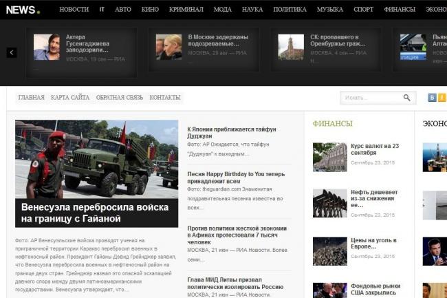 Продам автонаполняемый новостной сайт 3 1 - kwork.ru