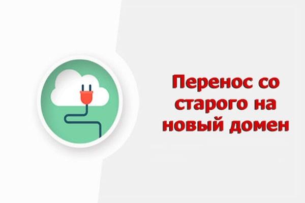 Перенос сайта с одного домена на другой 1 - kwork.ru