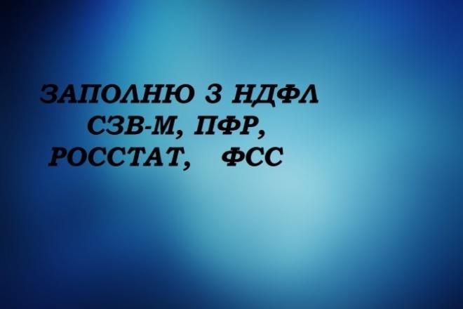 заполняю декларацию 3 ндфл 1 - kwork.ru