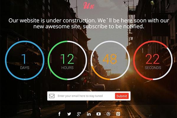 Создам одностраничный сайт с обратным отсчетом 1 - kwork.ru