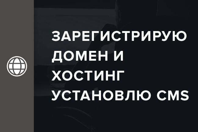 Зарегистрирую домен и хостинг, установлю CMS, дам консультацию 1 - kwork.ru