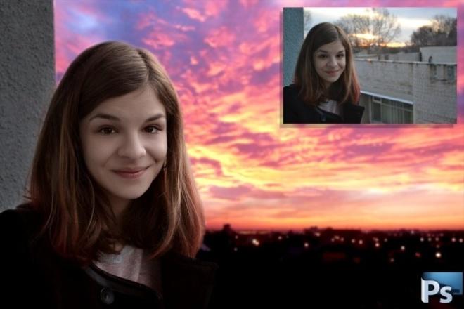 Замена фона (2 фото) 1 - kwork.ru
