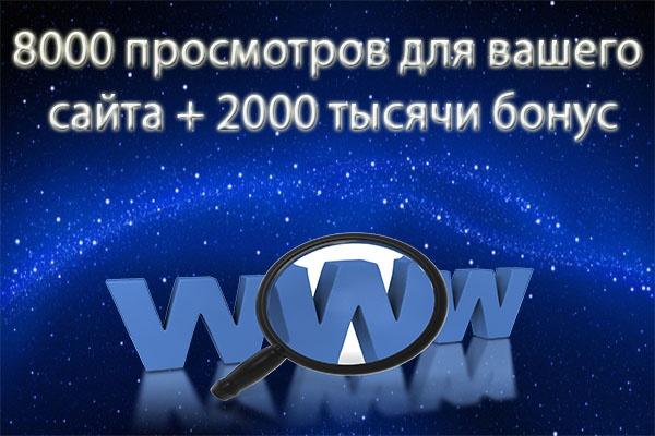 8000 тысяч просмотров для вашего сайта + 2000 тысячи в подарок 1 - kwork.ru