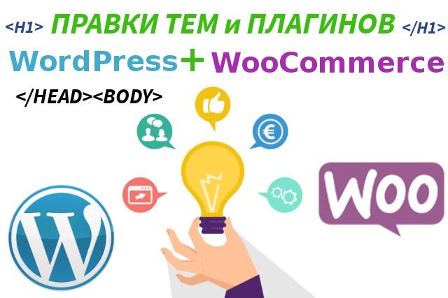Сделаю правки шаблонов (тем) и плагинов WordPress и WooCommerce 1 - kwork.ru