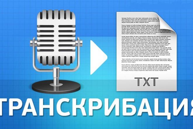 Расшифрую аудио/видео в текст 1 - kwork.ru