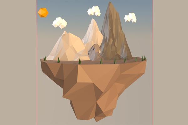 Сделаю Loy PolyФлеш и 3D-графика<br>Я сделаю 3д картинку, как на примере выше. Вы можете выбрать-Цвет ландшафта; количество гор, облаков. Так же размеры картинки изначально 1500x1500 пикселей.<br>