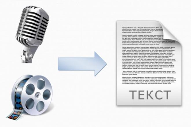 Перевод аудио и видео в текст 1 - kwork.ru
