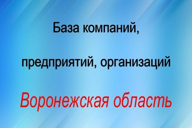 База компаний, предприятий, организаций. Воронежская область 1 - kwork.ru