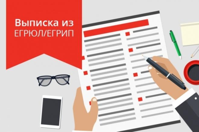 Предоставлю свежую выписку об организации или ИП из ЕРГЮЛ 1 - kwork.ru