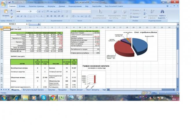 Финансовые моделиМенеджмент проектов<br>Автоматизированная финансовая модель в Excel с помощью которой произведён расчет закупки, реализации товаров, расчет движения денежных средств. постоянных и переменных затрат и их распределение . Посчитан НДС. Выведен расчет маржинальной и валовой прибыли. Составлен баланс и отчёт о прибылях и убытках. С помощью финансовой модели Вы сможете предупредить убытки и кассовые разрывы.<br>