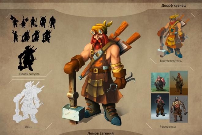 Нарисую концепт персонажа для вашей игры 1 - kwork.ru