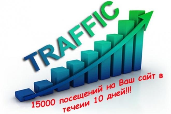 15000 посещений на Ваш сайт в течение 10 дней 1 - kwork.ru