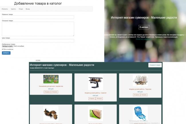Мини-интернет магазин 1 - kwork.ru