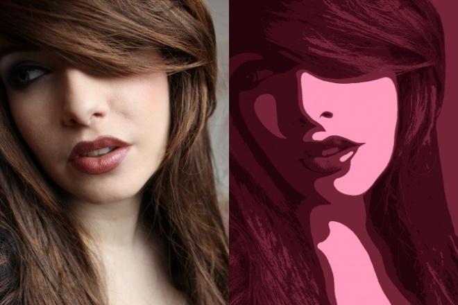 поп-арт портрет 1 - kwork.ru